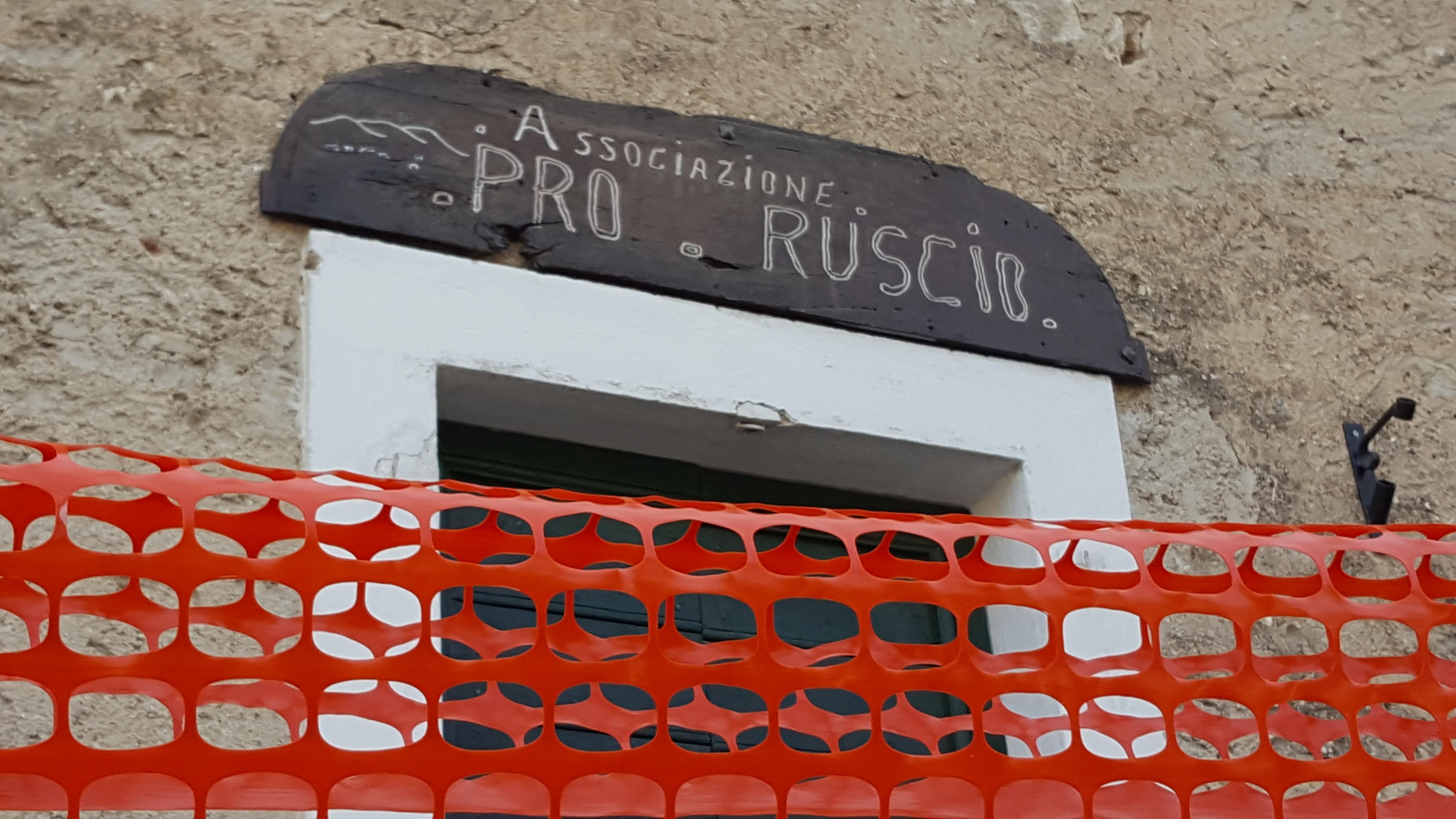 La sede dell'Associazione Pro Ruscio (foto Arch. Pro Ruscio, 2016)