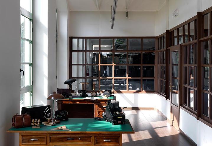 Un-ufficio-negli-anni-40-della-Manifattura-Aurora