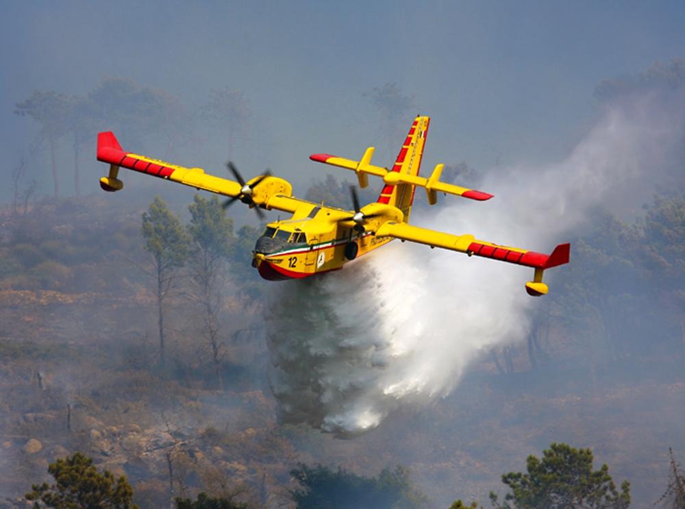 Il volo sull'incendio