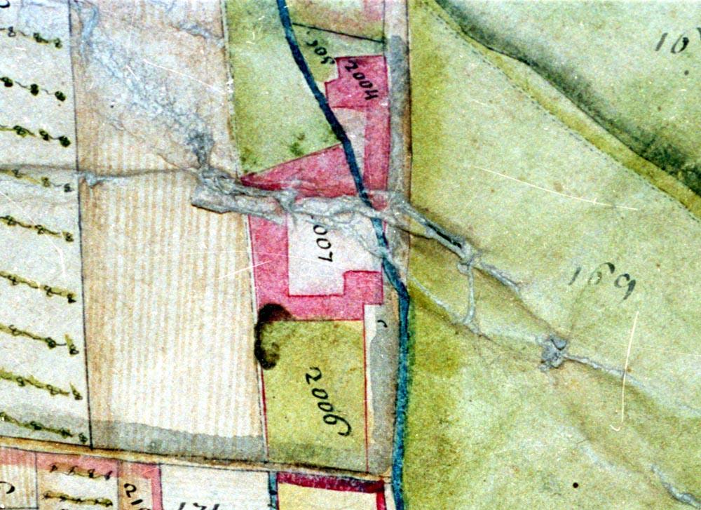 Il filatoio Pignatta nel catasto del 1746.