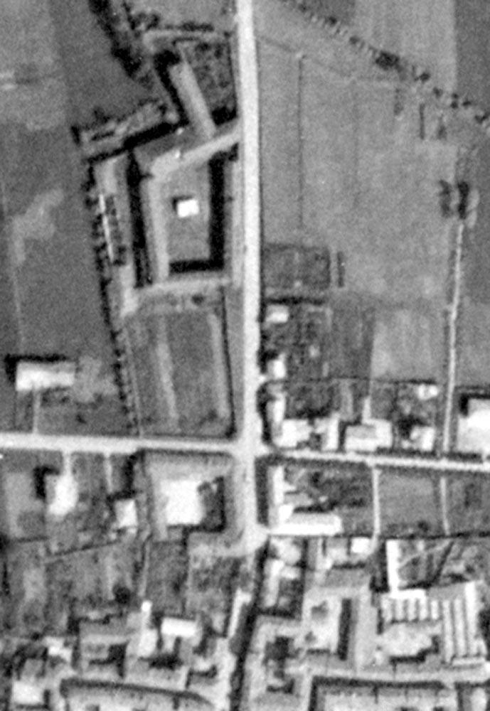 Il complesso Vialletton in una foto aerea del 1943
