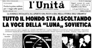 prima pagina del quotidiano l'Unità