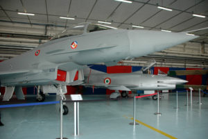 Museo Leonardo, due epoche a confronto, il Typhoon e il G.91